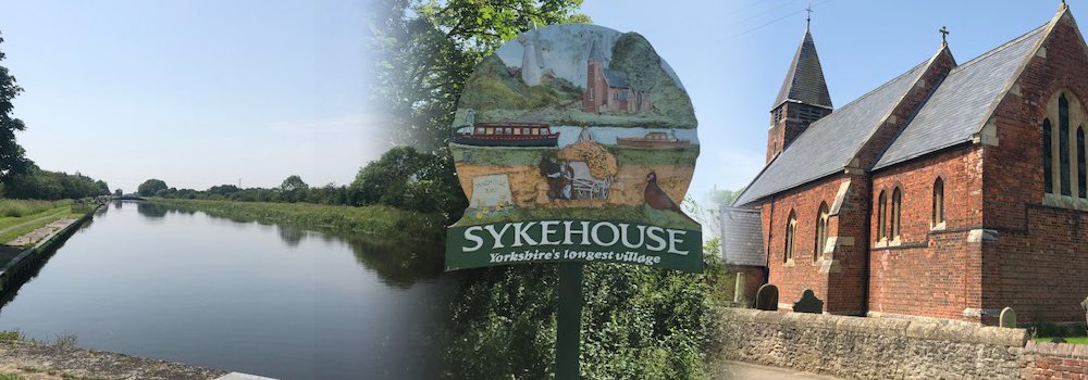 Welcome banner with views of Sykehouse